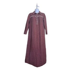 CABERNET SLEEPWEAR  Long Night Gown Plaid Sz S